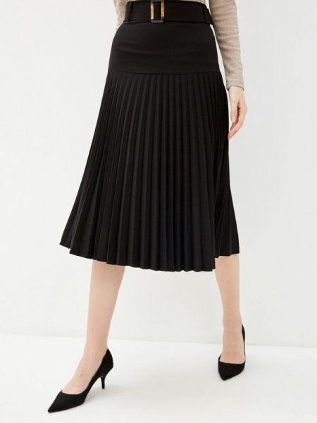 Плиссированное черное платье Zarina