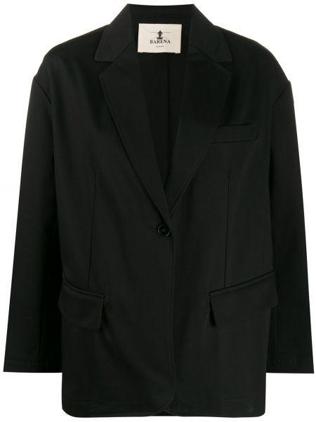 Однобортный синий удлиненный пиджак с карманами Barena