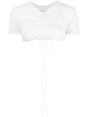 Белая спортивная футболка с V-образным вырезом с завязками Christopher Esber