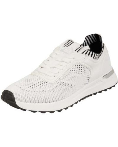Białe sneakersy materiałowe Bullboxer