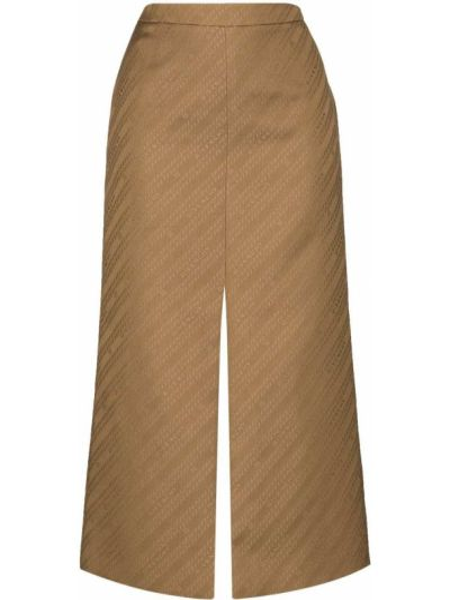 Bawełna beżowy z wysokim stanem spódnica ołówkowa w połowie kolana Givenchy