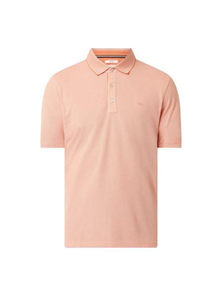 Pomarańczowy t-shirt bawełniany Brax