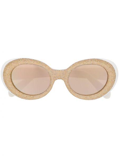 Złote okulary - białe Acne Studios