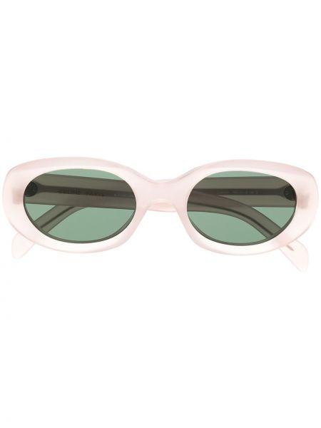Różowy okulary przeciwsłoneczne dla wzroku prostokątny przezroczysty Celine Eyewear