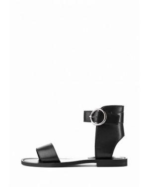 Кожаные сандалии - черные Stefano Lompas