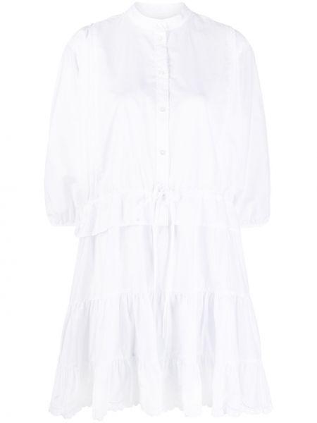 Кружевное белое платье макси с воротником See By Chloé