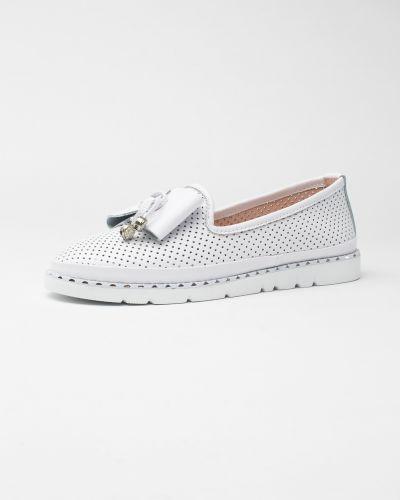 Кожаные белые туфли Vensi