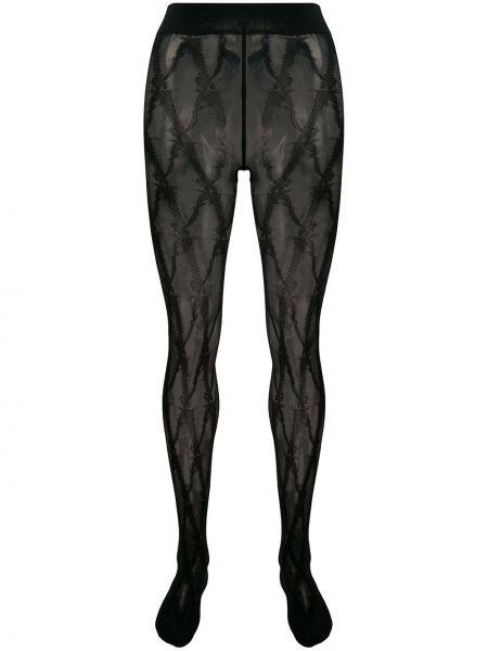 Колготки эластичные черные Versace