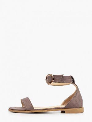 Коричневые текстильные сандалии Inario