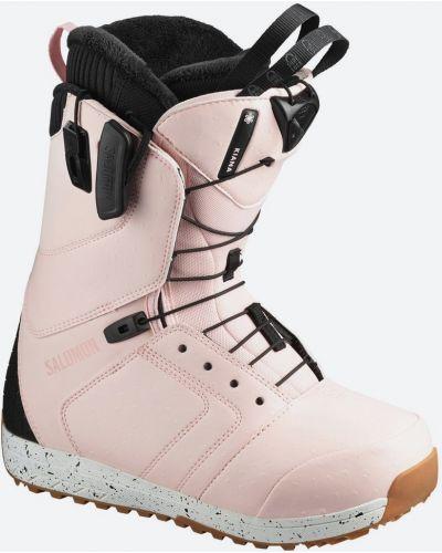 Черные ботинки на каблуке на шнуровке Salomon