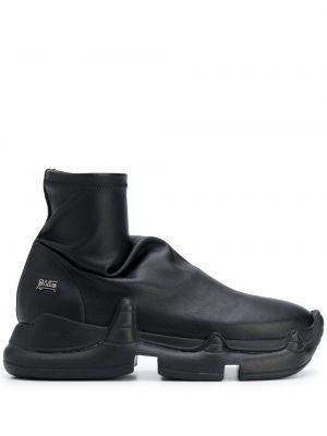 Czarne sneakersy skorzane Swear