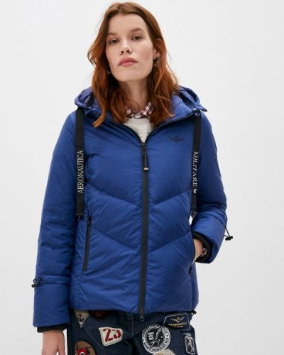 Синяя зимняя куртка Aeronautica Militare