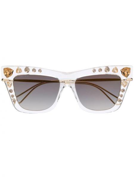 Прямые муслиновые желтые солнцезащитные очки Jimmy Choo Eyewear