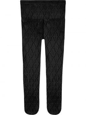 Черные колготки с поясом Gucci