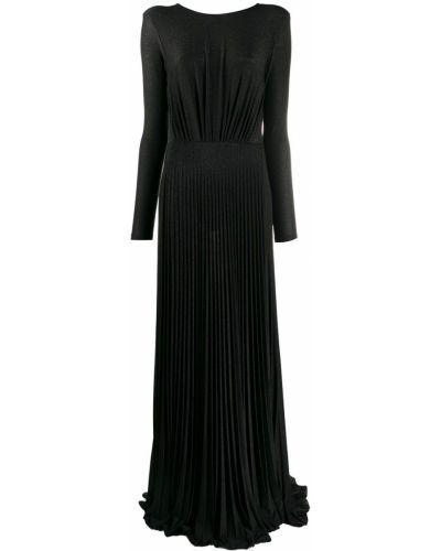 Черное платье с вырезом из вискозы круглое Elisabetta Franchi