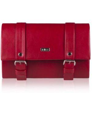Czerwona kopertówka skórzana oversize Felice