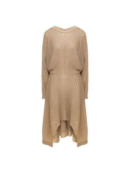 Платье с V-образным вырезом из вискозы Chloé