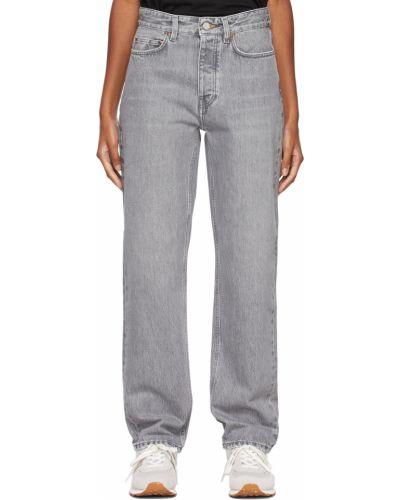 Mom jeans bawełniane - niebieskie Won Hundred