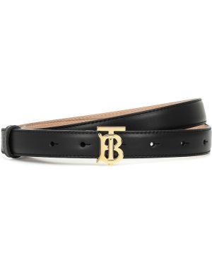 Кожаный ремень - черный Burberry