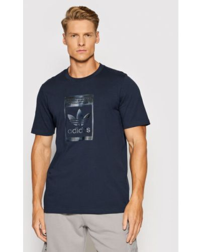 T-shirt granatowa Adidas Originals