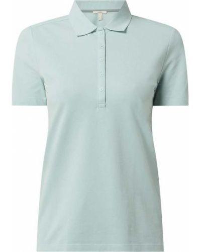 T-shirt bawełniana - turkusowa Esprit