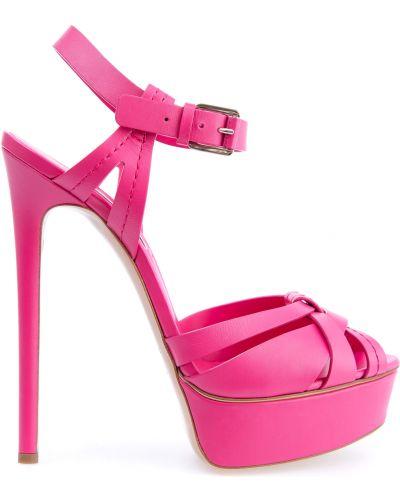 Босоножки на каблуке яркие Casadei