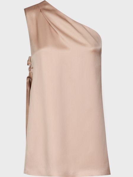 Шелковая блузка - бежевая Rochas