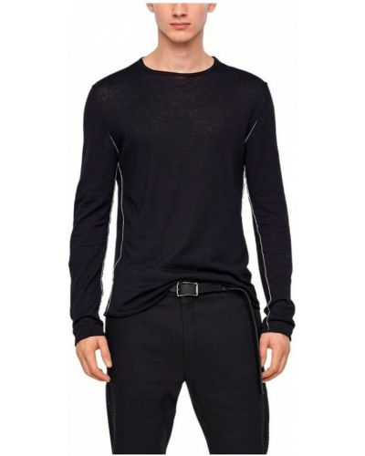 Lniany czarny sweter Sarah Pacini