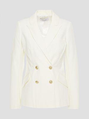 Белый пиджак двубортный с подкладкой Derek Lam 10 Crosby