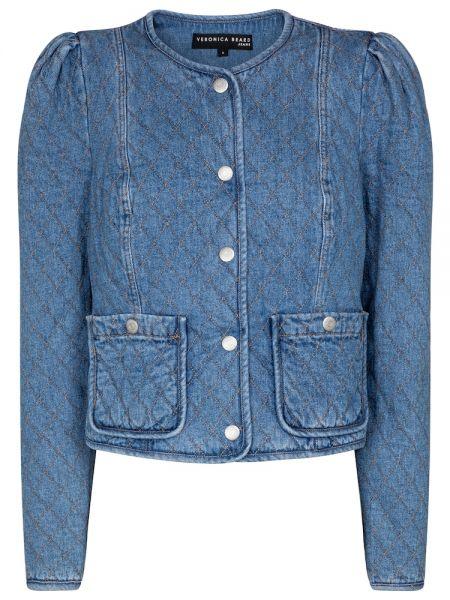 Хлопковая ватная синяя джинсовая куртка Veronica Beard