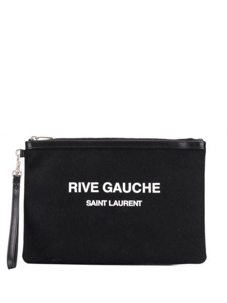 Черный клатч Saint Laurent