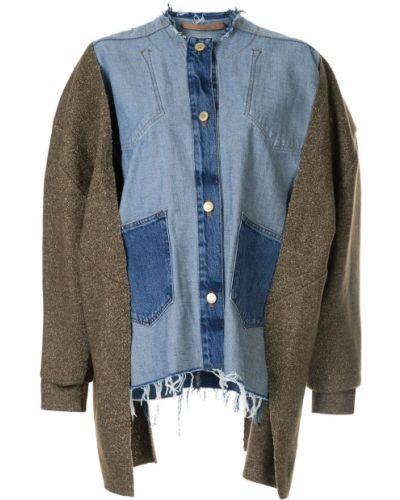 Синяя джинсовая куртка круглая Litkovskaya