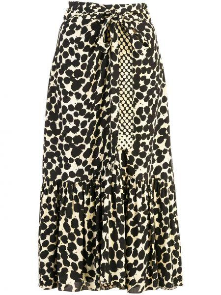 Czarna spódnica z wiskozy kaskadowa Proenza Schouler