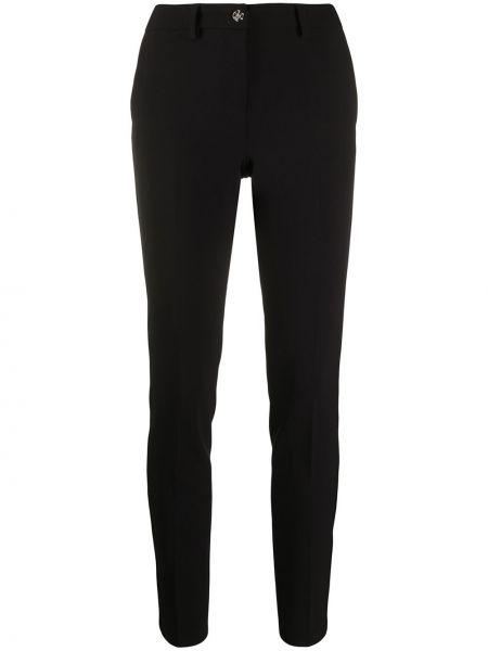 Spodnie z wysokim stanem z kieszeniami z wzorem Philipp Plein