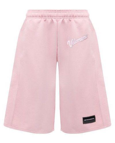 Розовые хлопковые шорты Vetements