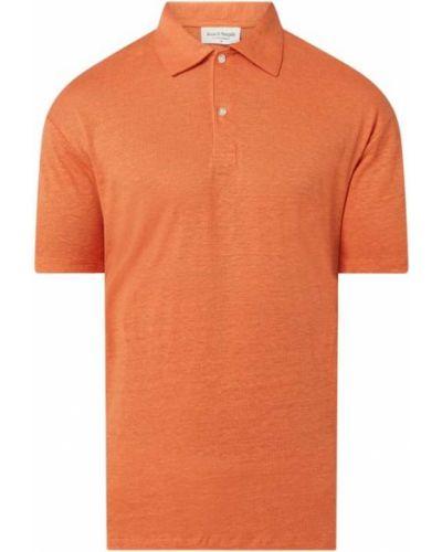 Pomarańczowy t-shirt Bruun & Stengade