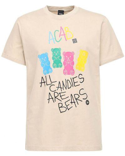 Beżowy t-shirt Taboo