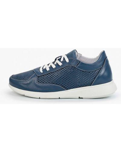 Синие кожаные кроссовки Der Spur