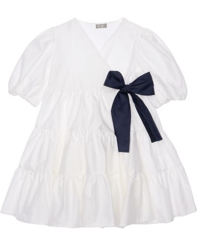 Biała sukienka bawełniana Il Gufo