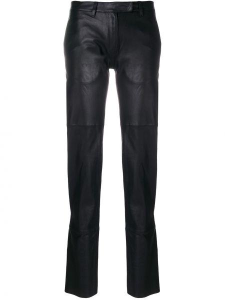 Черные прямые брюки с поясом узкого кроя Olsthoorn Vanderwilt