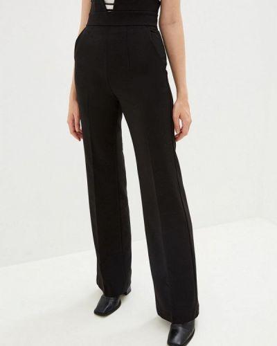 Черные классические брюки с карманами Gepur