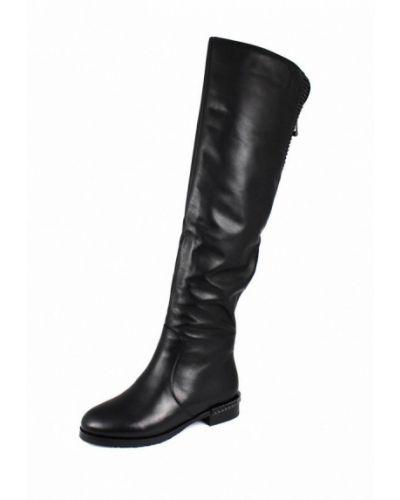 Ботфорты кожаные черные Blizzarini