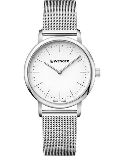 Кварцевые часы водонепроницаемые с люминесцентными стрелками с подсветкой Wenger