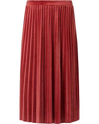 Spódnica midi rozkloszowana z aksamitu Vila