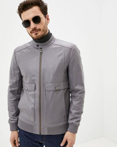 Кожаная куртка - серая Giorgio Di Mare