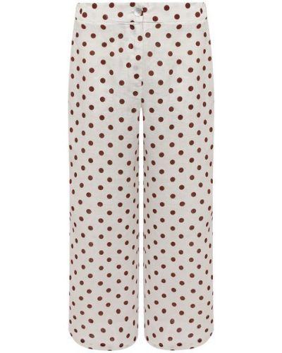 Льняные брюки - бежевые La Fabbrica Del Lino