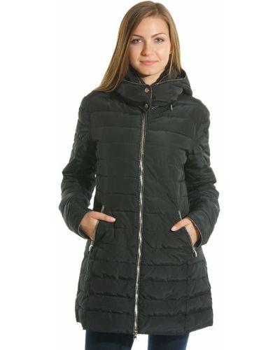 Черное пальто с капюшоном Armani Jeans