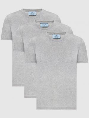 Серая футболка Prada
