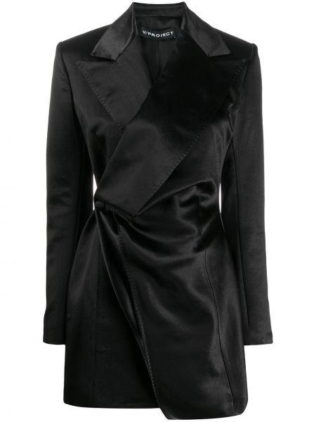 Прямой черный пиджак Y/project