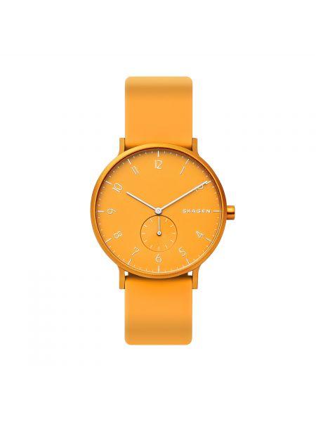 Zegarek z siateczką - żółty Skagen